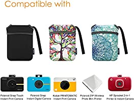 Fintie Funda para Polaroid Snap/Snap Touch Cámara Digital Instantánea/Polaroid Zip Impresora Móvil/HP Sprocket 2 en 1 - Bolsa Estuche del Viaje de ...