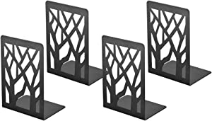 Book Ends, Bookends, Book Ends for Shelves, Bookends for Shelves, Bookend, Book Ends for Heavy Books, Book Shelf Holder Home Decorative, Metal Bookends Black 2 Pair, Bookend Supports, Book Stoppers