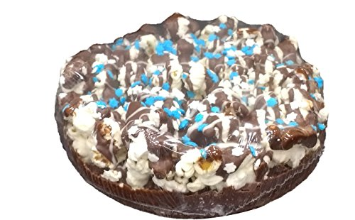 Hanukkah Gift Box - Popcorn with Drizzled Chocolate Pie With Blue and White Stars, Gluten-Free, 7
