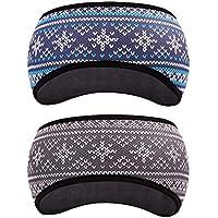 GoYonder Fleece Thermal Headbands Ear Warmers Ear Muffs (Set of 2 Colors)