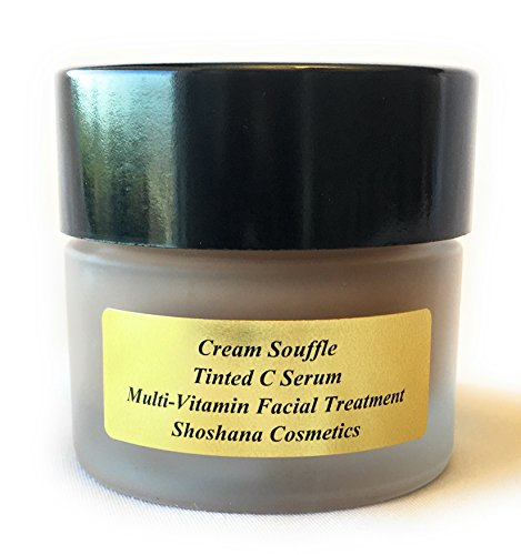Tinted Facial Moisturizer | Cream Soufflé Tinted C Serum by Shoshana Cosmetics | Multi-vitamin Tinted Moisturizing Facial Treatment