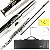 Engraved Design Italian Pads 16 Keys Nickel Plated Close Hole C Flute