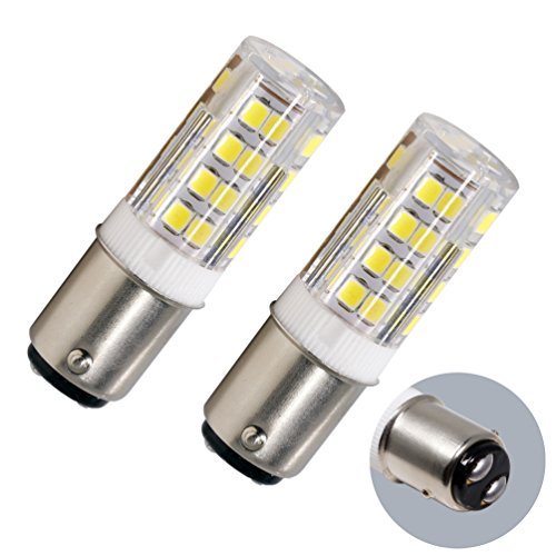 Ba15d Double Contact Bayonet Base, 5w 50W Equivalent 120 Volts, Dimmable 500Lm Max , Daylight(5100K) 2 pack (Contact Bayonet Base)