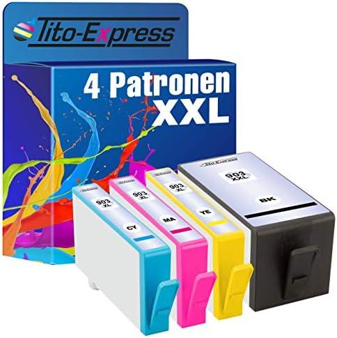 Tito Express Platinumserie 4x Tintenpatronen Xxl Kompatibel Mit Hp 903xxl Hp 903xl Geeignet Für Hp Officejet Pro 6860 6868 6900 6950 6960 6970 6975 6978 Bürobedarf Schreibwaren