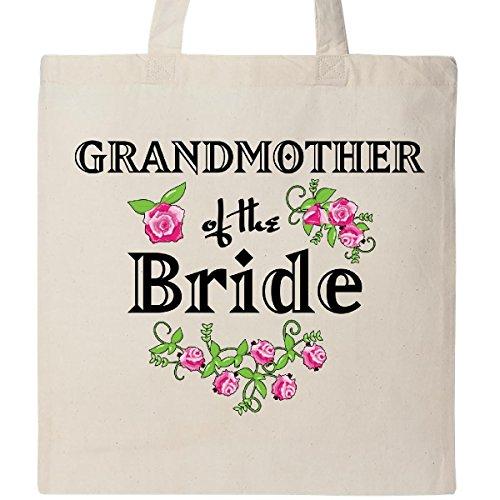 Inktastic Grandmother of the Bride Roses Tote Bag Natural