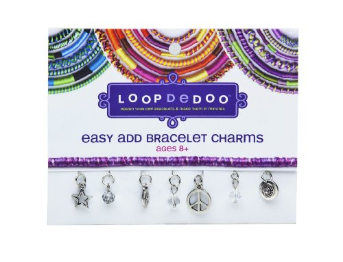 (Loopdedoo Easy Add Bracelet Charms - Peace & Happiness)