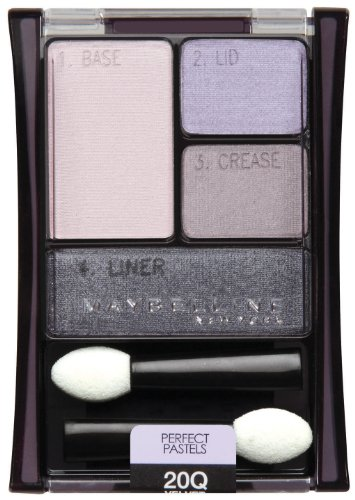 Pastel Shadow - Maybelline New York Expert Wear Eyeshadow Quads, 20q Velvet Crush Perfect Pastels, 0.17 Ounce
