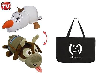 67b19a67d4efc Amazon.com: 14 inch Flipazoo Disney, Olaf to Sven w/ Flipatote ...