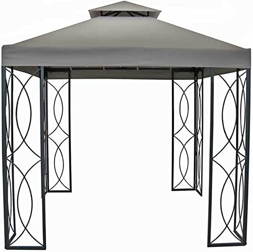 The Outdoor Patio Store 8 x 8 Steel Frame Gazebo with High-Grade 300D Canopy