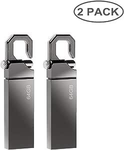 Pen Drive 64 GB [2 Piezas] Memorias USB 64GB Aluminio USB Stick ...