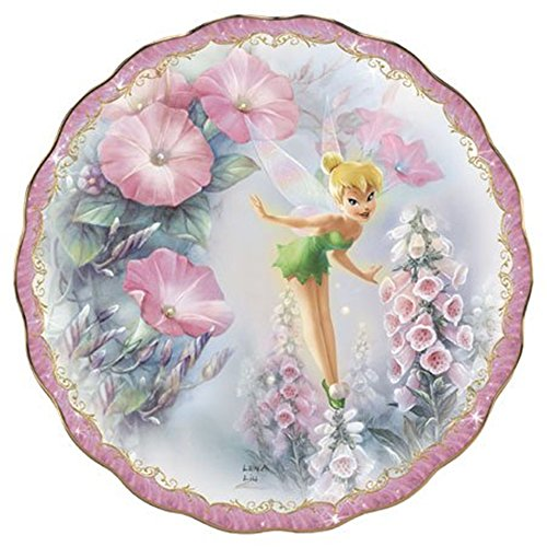 The Bradford Exchange Tip-Toe Magic Tinkerbell Limited-Edition Jewels of Neverland Plate Collection ()