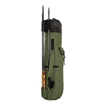 Amazon.com: Plegable de lona bolsas de bolsa de pesca caña ...