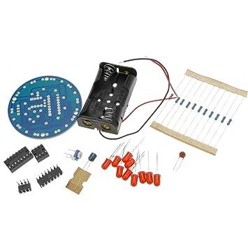 BeMatik - Kit electrónico de 10 Leds en Movimiento NE555 CD4017 DW-0843