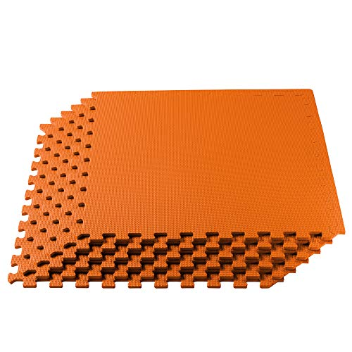 We Sell Mats 3/8 Inch Thick Multipurpose Exercise Floor Mat with EVA Foam, Interlocking Tiles, Anti-Fatigue for Home or…