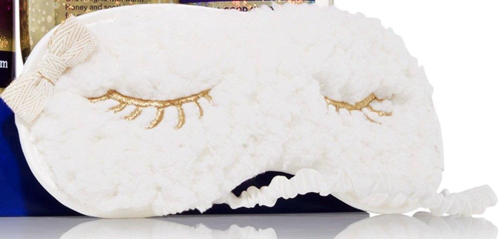 Bath & and Body Works Lambie Sleep Mask with Gold Eye Lashes 2012