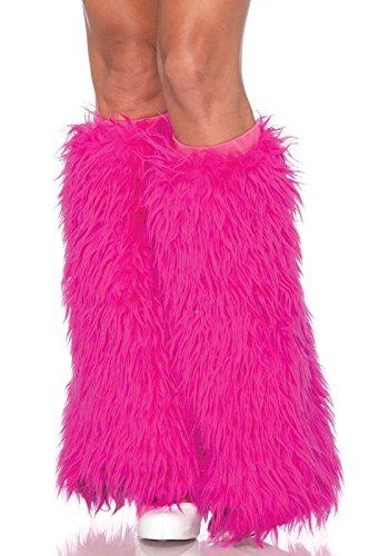 (Leg Avenue Women's Furry Leg Warmers, Hot Pink, One Size)