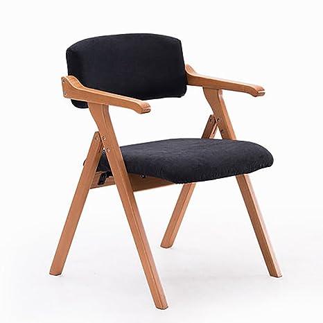 Amazon.com: ZJM - Silla de cocina de madera maciza silla de ...