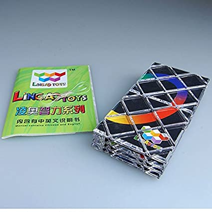 9880208fa0a8 ThinkMax 8 Panels 3 Rings Black Magic Folding Puzzle Cube Twisty