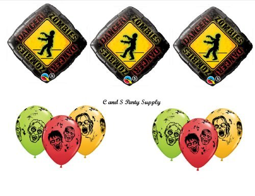 [9 PIECE Zombies The Walking Dead Zone Birthday Party Balloons Decorations Supplies NEW! by Pioneer] (Walking Zombie)
