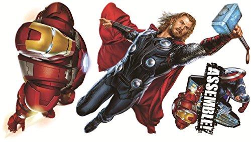 Marvel Superheroes Comic - The Avengers Movie - Captain America, Hulk, Iron Man, Thor, Hawkeye, Black Widow Wall Decal Sticker -