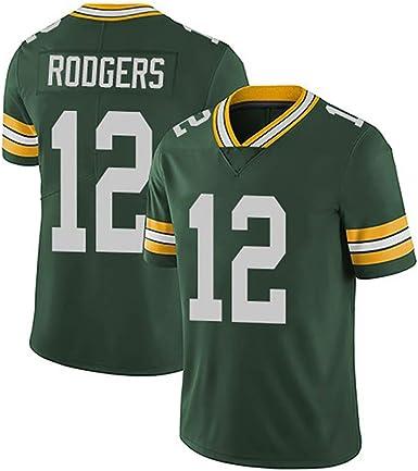 CDZN Green Bay Packers Aaron Rodgers # 12 Camiseta de fútbol ...