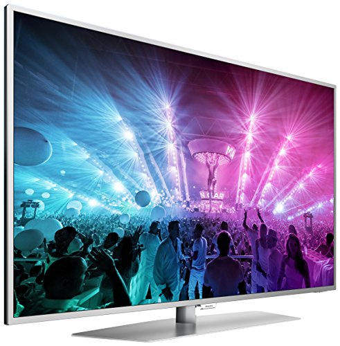 Philips 49PUS7181/12 124,5 cm (49 Zoll) Ultraflacher Android 4K-Fernseher mit 3-seitigem Ambilight und PixelPrecise Ultra HD dunkelsilber