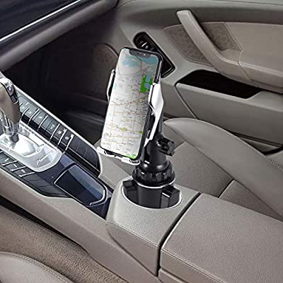 Car Cup Wireless Charger Holder,10W Qi Fast Charging Auto-Clamping Car Phone Charger Mount Compatible with iPhone11/11Pro/11Pro Max/XS Max/XS/XR/X/8/8+,Samsung S10/S9/S8/Note10/Note9,LG,Google Pixel