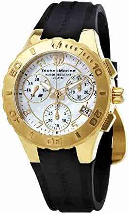 TechnoMarine Cruise Medusa Chronograph White Dial Ladies Watch 115087