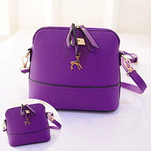 Purple Deer with with Small Pendant CieKen Clearance Crossbody Medium Tassel Bag Lightweight gqxATp