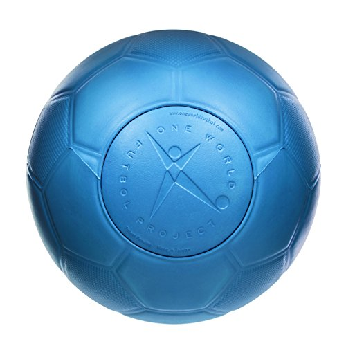 One World Play Project Soccer Ball - Unpoppable, Unbreakable, Non-Deflating, Non-Toxic Futbol