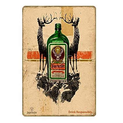 aoforz-glishangmaoyou Beber Alcohol Jagermeister Cabeza de ...