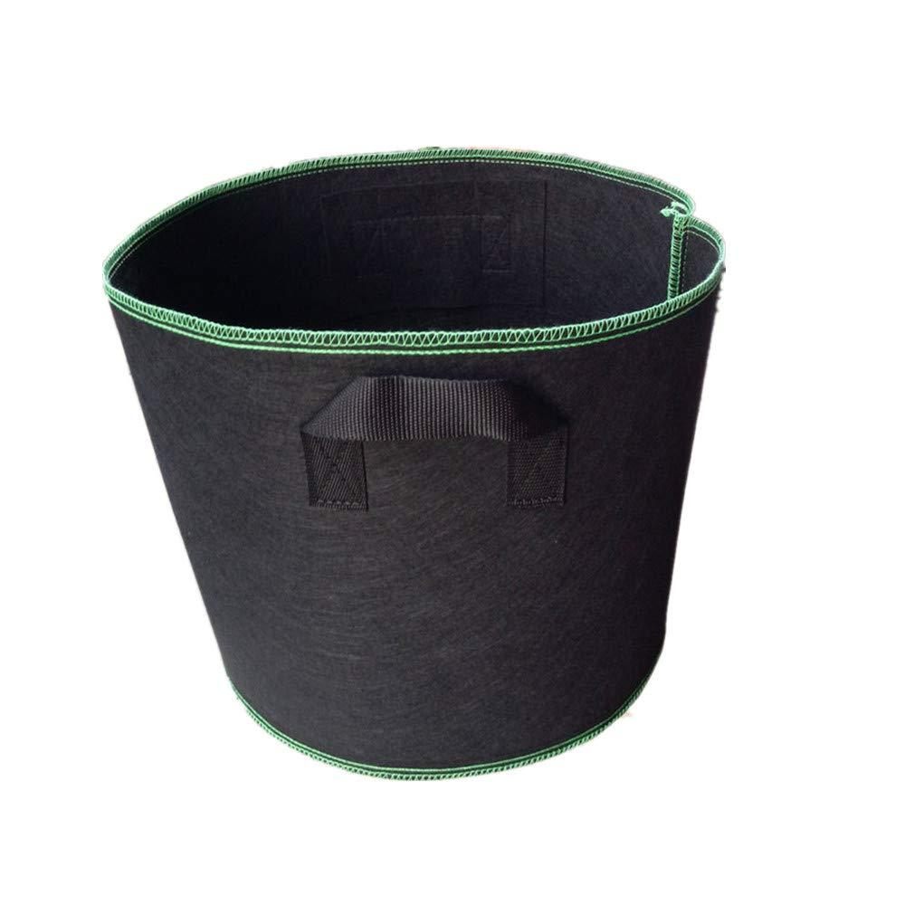 Cherlvy Thickening Nonwoven Black Seedling Bag Green Folding Garden Bucket (Size : 21 gallons)