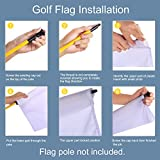 "KINGTOP Solid Golf Flags with Tube Inserted, All 8"" L x 6"" H, Putting Green Flags for Yard, 420D Nylon Mini Pin Flags"
