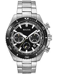 Bulova High Frequency Quartz Chronograph Silver Tone Mens Watch 98B298