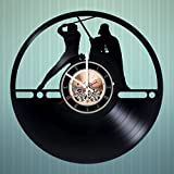 Epic Wars Movie Vinyl Record Wall Clock - Get unique Home Room or Bedroom wall decor - Gift ideas for men and women, boys - Action Figure Unique Modern Art