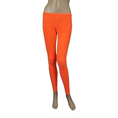 df9ec8d97b0b0 Crazy Chick Neon Orange Microfiber Women Leggings Disco Dance Leggings  Fancy Dress: Amazon.co.uk: Clothing