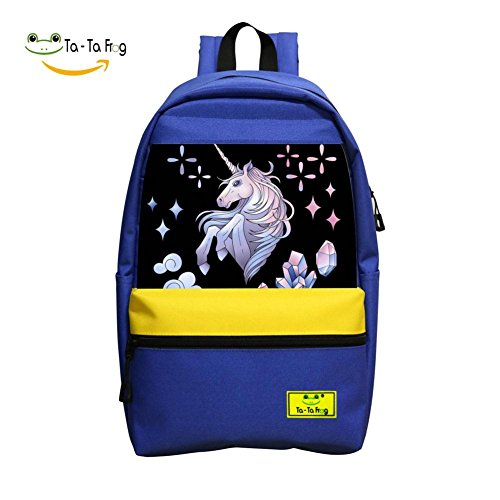 Carton Horse Dab School Bag Student Backpack for Children Blue
