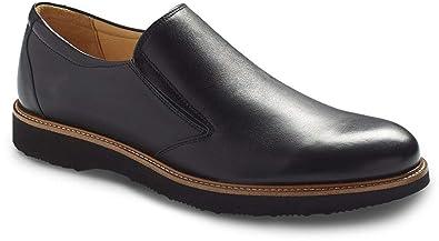 79751caef94 Samuel Hubbard Mens Frequent Traveller Black Slip-On - 7 M
