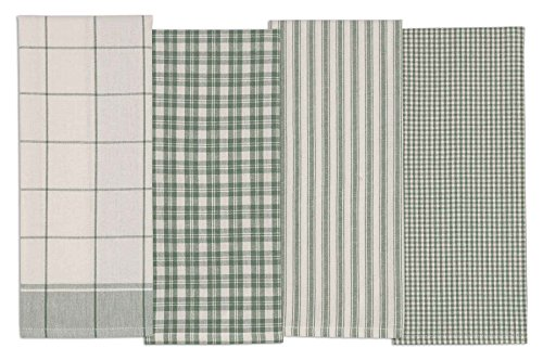 (DII COSD35161 Cotton Dish, Set of 4, Decorative Oversized Towels, Perfect for Every Day Home Kitchen, Holidays and Housewarming Gifts, 18x28, Sage)
