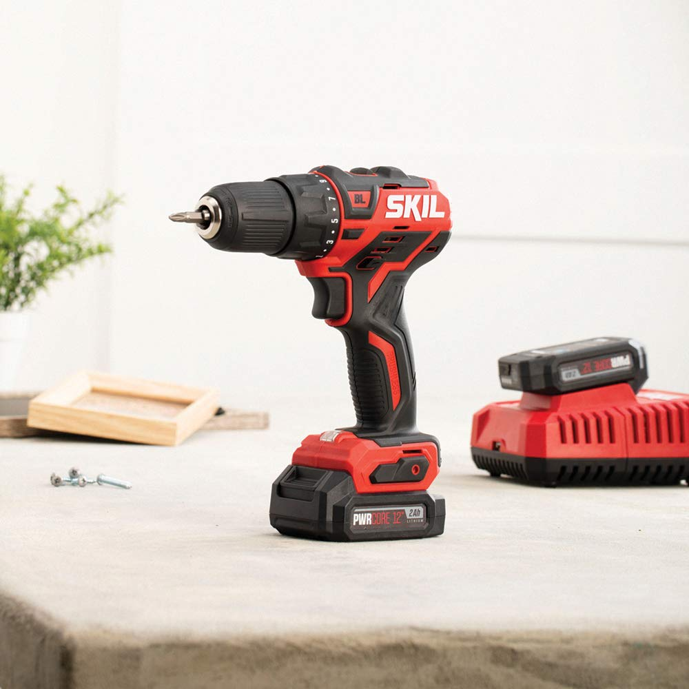 SKIL PWRCore 12 Brushless 12V 1/2 Inch Cordless Drill Driver, Includes 2.0Ah Lithium Battery and PWRJump Charger - DL529002 by Skil (Image #6)