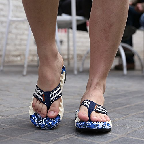 Xing Lin Sandalias De Hombre Verano Indoor Casual Sandalias Y Zapatillas Para Hombres Sandalias Slip Sandalias De Marea De Masaje Camouflage blue
