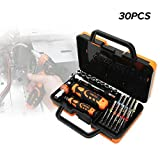 niceEshop(TM) 30 In 1 Precision Screwdrivers Set,Driver Kit, Magnetic Driver Kit, Screwdrivers Set with Case Repair Tool Kit for Car,Furniture,Device,Bicycle,Machine Repair,Electronics Disassembly