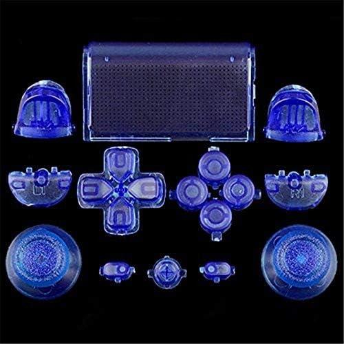 canamite® DualShock 4 PS4 コントローラー対応用 アナログスティック L1R1 L2R2 ボタン一式 交換パーツ プラスドライバー付 (9#)
