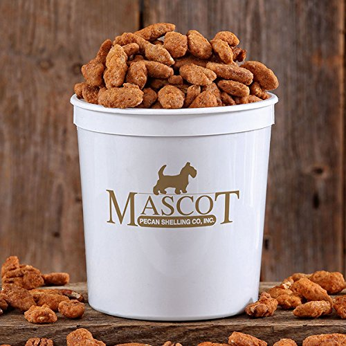 Mascot Pecan Sweet Georgia Heat Mammoth Pecans 2 lb Big Daddy Tub - First you taste the sweet, then you feel the Heat! For Parties, Picnics, Holidays, BBQ, Dad, The (Honey Glazed Pecans)