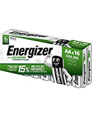 Energizer AA Oplaadbare Batterijen, Recharge Power Plus Batterij, 16 Stuks