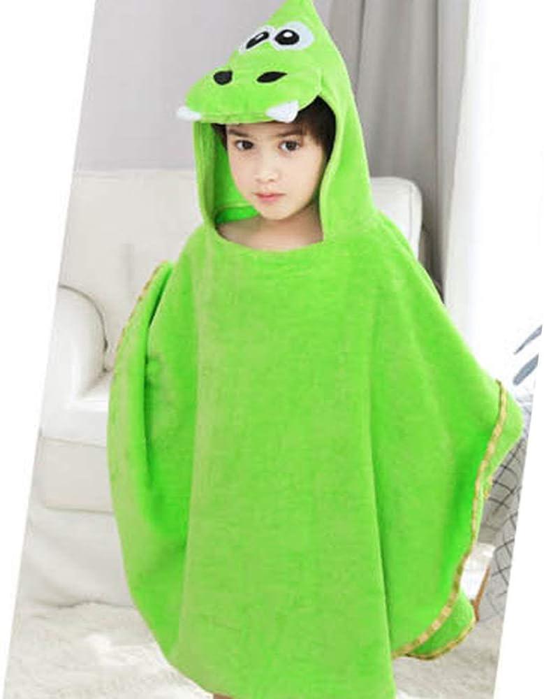 Super Absorbent Soft Poncho Towel Pink, L Multi-use for Bath//Swim//Pool//Shower Kids Dinosaur Hooded Beach Towel