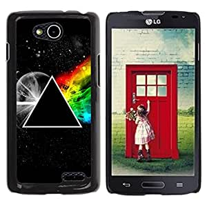Be Good Phone Accessory // Dura Cáscara cubierta Protectora Caso Carcasa Funda de Protección para LG OPTIMUS L90 / D415 // Triangle Secret Symbolics Universe Rainbow