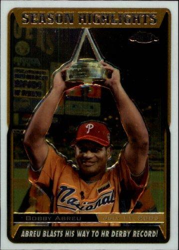 2005 Topps Chrome Update Baseball Card #218 Bobby Abreu Near Mint/Mint
