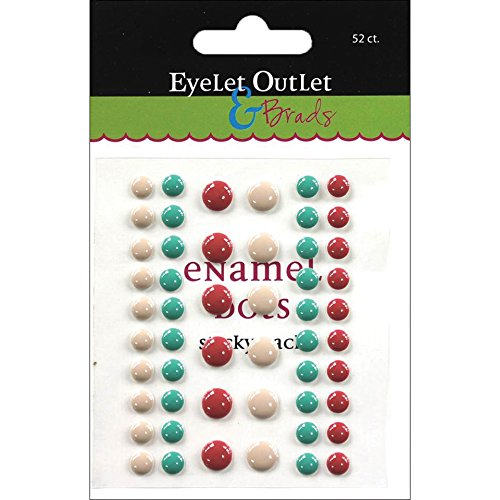 EYELET OUTLET 52 Enamel, Tan/Green/Red