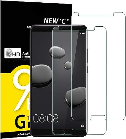NEWC 2 Unidades, Protector de Pantalla para Huawei Mate 10 Vidrio ...